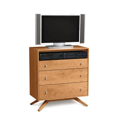 Copeland Furniture Astrid 3 Drawer Chest with Media Organizer