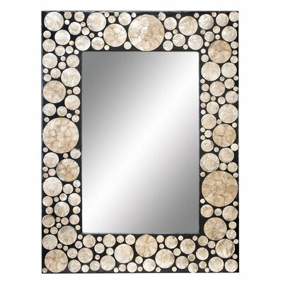 "Aspire 40"" Capiz Shell Rectangle Wall Mirror"