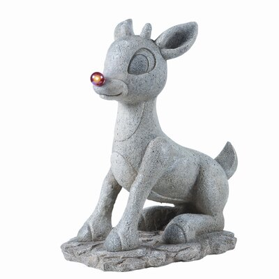 Roman, Inc. Solar Rudolph Figurine