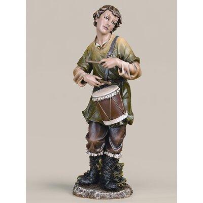 Roman, Inc. Joseph Studio Scale Colored Drummer Boy Statue