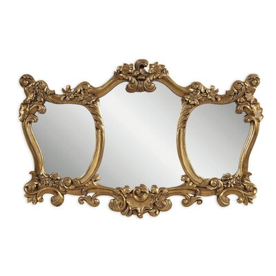 Ornate 3 Panel Shaped Mirror by Bassett Mirror