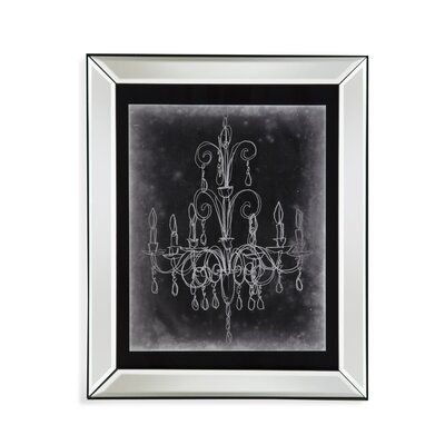 Chalkboard Chandelier Sketch II Framed Graphic Art by Bassett Mirror