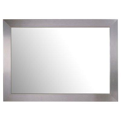 Bassett Mirror Stainless Rectangle Wall Mirror