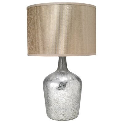 "Jamie Young Company Textured Mercury MD Jar 27.5"" H Table Lamp with Drum Shade"