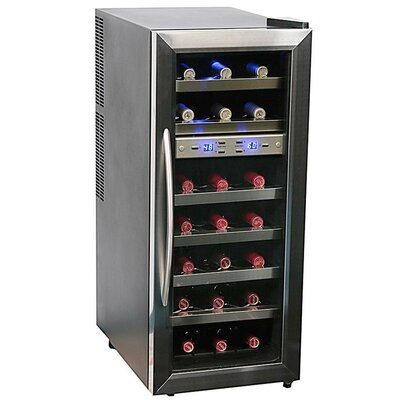 21 Bottle Dual Zone Freestanding Wine Refrigerator by Whynter