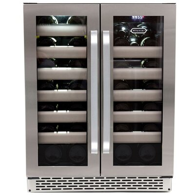 Elite 40 Bottle Dual Zone Built-In Wine Refrigerator by Whynter