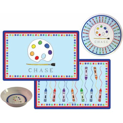 The Kids Tabletop 3 Piece Little Artist Placemat Set by Kelly Hughes Designs
