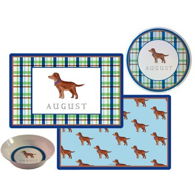 The Kids Tabletop 3 Piece Best Friend Placemat Set by Kelly Hughes Designs