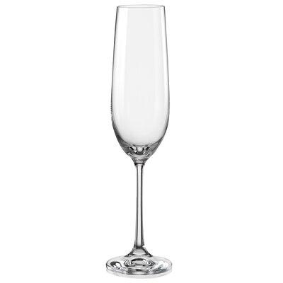 Red Vanilla Viola Champagne Flute