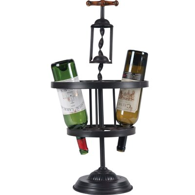 Corkscrew 6 Bottle Tabletop Wine Rack by Wilco Home