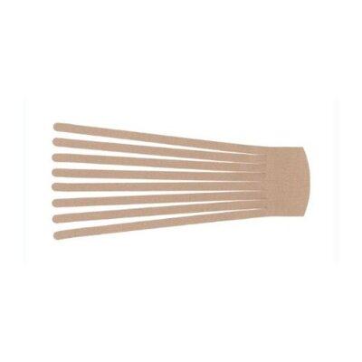 """Isokinetics 3.2"""" x 12"""" Kinesio Fan Cut Legs Application with 8 Legs"""