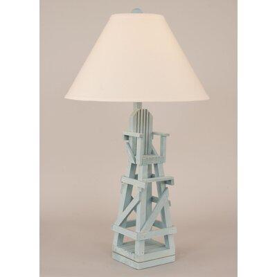 coast lamp mfg coastal living life guard chair 29 5 h table lamp. Black Bedroom Furniture Sets. Home Design Ideas