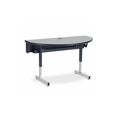 "Virco Future Access 48"" W x 24"" D Half Round Training Table"