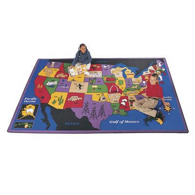Virco Children's Discover America Area Rug