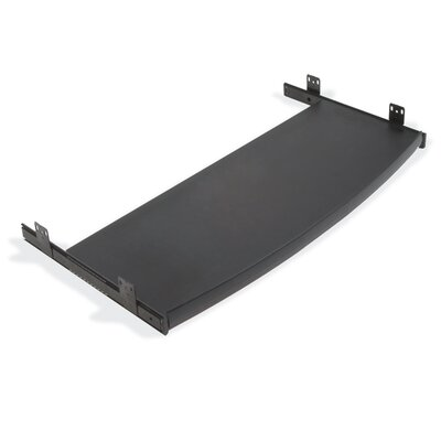 """Virco 12"""" x 29"""" Curved Keyboard Mouse Tray"""