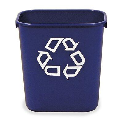 Virco 10.3-Gal Recycling Waste Basket
