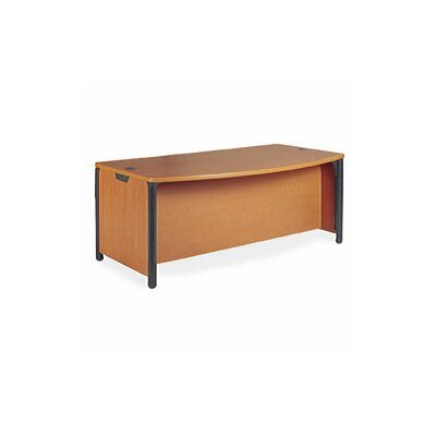 Virco Plateau Series Office Bow Front Desk Shell