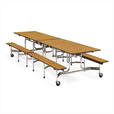 "Virco Bench Table with T-Mold Edge (17""H x 10""L)"