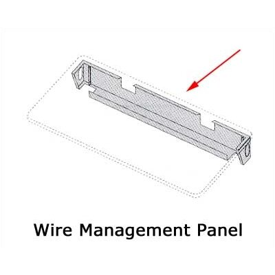 "Virco Wire Mgmt. Panel for 72"" W Rectangulars / 84"" Trapezoids"