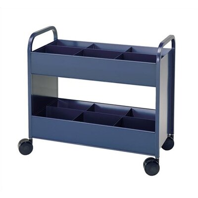 Virco Utility Cart with 6 Bin and  2 Shelve