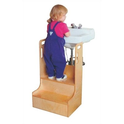 Virco 2-Step Wood Children's Step-up-n-wash Children's Step Stool