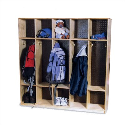 Virco 1 Tier 5-Section Double-Sided Locker