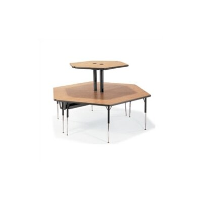 "Virco Plateau Series 96"" x 84"" Hexagon Classroom Table"