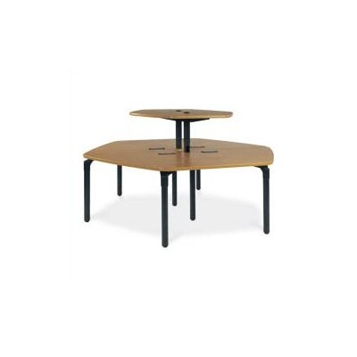 "Virco Plateau Series 46"" x 21"" Trapezoidal Classroom Table"
