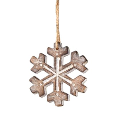 Lodge Carved Snowflake Christmas Ornament by Sage & Co.