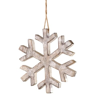 Lodge Wood Snowflake Christmas Ornament by Sage & Co.