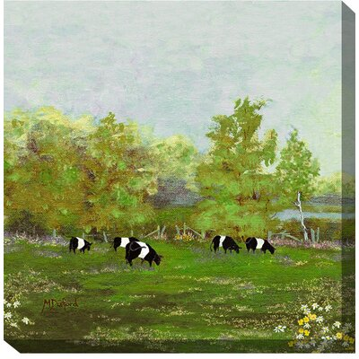West of the Wind Outdoor Canvas Art Sweet Spring Painting Print on Wrapped Canvas