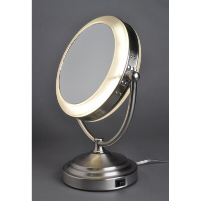 floxite 8x 1x lighted vanity mirror without outlet reviews wayfair. Black Bedroom Furniture Sets. Home Design Ideas