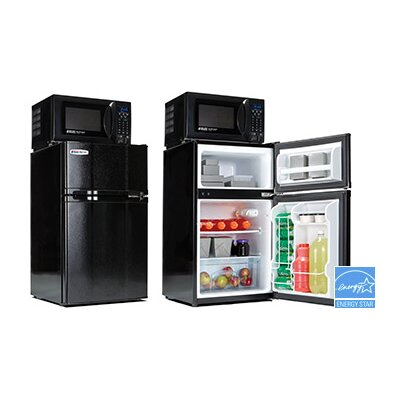 Safe Plug 3.1 cu. ft. Combination Mini Refrigerator and Microwave by Microfridge