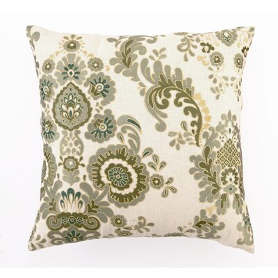 D.L. Rhein Embroidered Marseilles Linen Throw Pillow