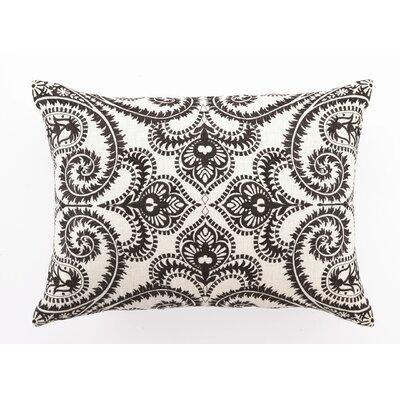 Embroidered Amalfi Linen Lumbar Pillow by D.L. Rhein
