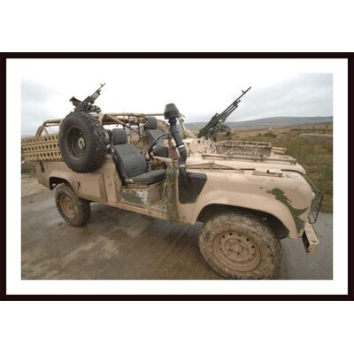 A Pink Panther Land Rover Desert Patrol Vehicle By