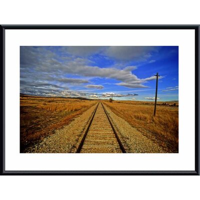 Printfinders 'Rails to Infinity' by John K. Nakata Framed Photographic Print