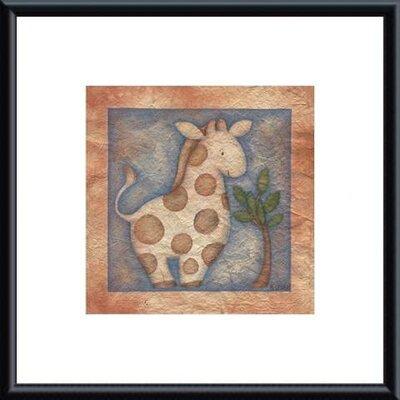 Printfinders 'Giraffe' by Beth Logan Framed Painting Print