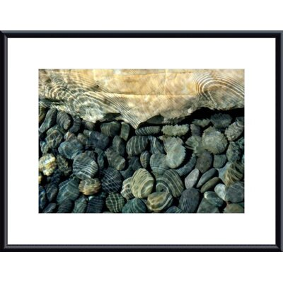 Printfinders Rock, Pebbles and Water by John K. Nakata Framed Photographic Print