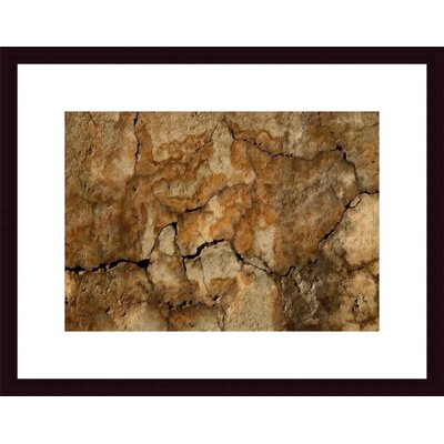 Printfinders Cracked Wall Abstract by John K. Nakata Framed Photographic Print