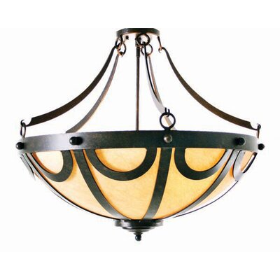 2nd Ave Design Pendants, Carousel 3 Light Inverted Pendant