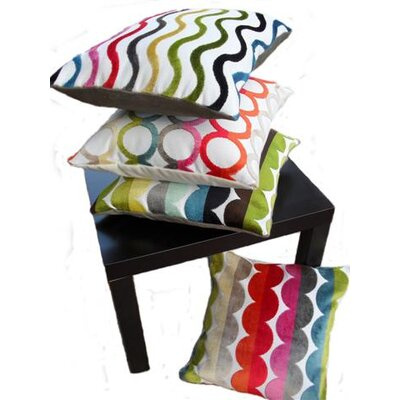 Rennie & Rose Design Group Modern Circles Throw Pillow