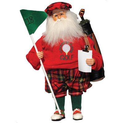 Santa's Workshop I'd Rather Be Playing Golf Santa Figurine