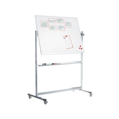 Peter Pepper Stand Alone Revolvin Magnetic Free-Standing Magnetic Whiteboard, 6' x 7'