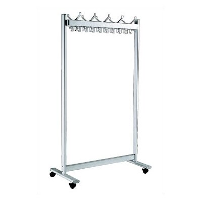 67'' H x 39.5'' W x 20'' D Mobile Coat Rack with 28 Hooks Product Photo