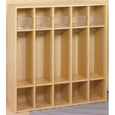 TotMate Eco 1 Tier 5-Section Preschool Locker