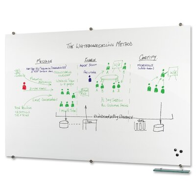 Balt Visionary Magnetic Wall Mounted Whiteboard, 4' x 6'