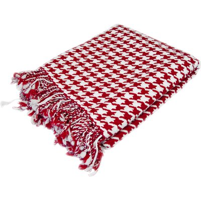 Luxurious 100% Cashmere Houndstooth Throw by Peach Couture