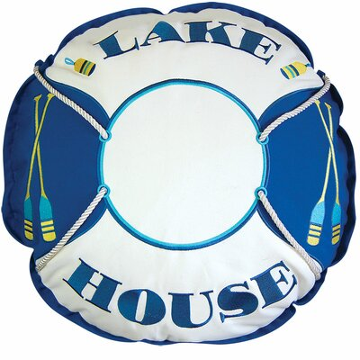 Lake Retreat House Preserver Outdoor Sunbrella Throw Pillow by Rightside Design