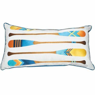 Lake Retreat Oars Outdoor Sunbrella Throw Pillow by Rightside Design